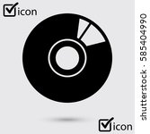 cd or dvd icon. compact disk... | Shutterstock .eps vector #585404990
