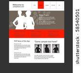 website design template  vector. | Shutterstock .eps vector #58540501