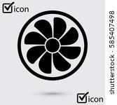 exhaust fan icon. ventilator... | Shutterstock .eps vector #585407498