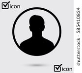 user sign icon. person symbol.... | Shutterstock .eps vector #585410834