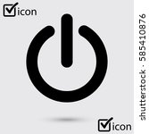 power sign icon.  power button. ...