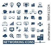 networking icons  | Shutterstock .eps vector #585411224