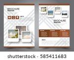 business brochure template.... | Shutterstock .eps vector #585411683