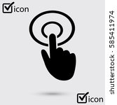 hand cursor sign icon. hand...