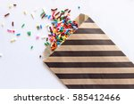 Black Striped Party Favor Bag...