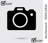 photo camera symbol. dslr... | Shutterstock .eps vector #585412826