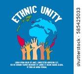 unity concept poster  | Shutterstock .eps vector #585425033