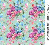 beautiful watercolor bouquet of ...   Shutterstock . vector #585427670