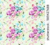 beautiful watercolor bouquet of ...   Shutterstock . vector #585427688