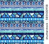 sketch pattern. tribal doodles... | Shutterstock .eps vector #585430958