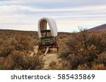 Old Covered Wagon Sits Along...