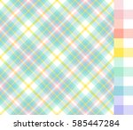 easter colors tartan plaid and... | Shutterstock .eps vector #585447284