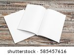 blank catalog  magazines book... | Shutterstock . vector #585457616