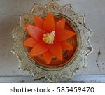 candle shaped as a lotus flower   Shutterstock . vector #585459470