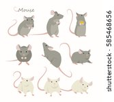 cute small animal rat mouse... | Shutterstock .eps vector #585468656