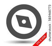 compass icon. simple flat logo...