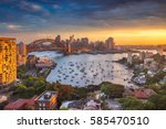 sydney. cityscape image of... | Shutterstock . vector #585470510