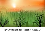 vector illustration of mountain ... | Shutterstock .eps vector #585472010