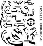 set of vector arrows. | Shutterstock .eps vector #58547263