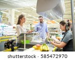 shopping  sale  consumerism and ... | Shutterstock . vector #585472970