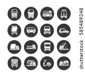 vehicle icon set in circle...   Shutterstock .eps vector #585489248