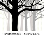 abstract nature design of trees ... | Shutterstock .eps vector #585491378