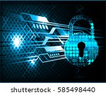 safety concept  closed padlock... | Shutterstock .eps vector #585498440
