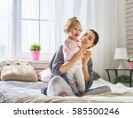 happy loving family. young... | Shutterstock . vector #585500246