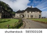 british colonial house and rear ... | Shutterstock . vector #585503108
