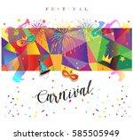carnival festival poster... | Shutterstock .eps vector #585505949