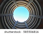 standing in the center of a... | Shutterstock . vector #585506816