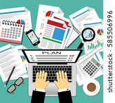 vector illustration of business ... | Shutterstock .eps vector #585506996
