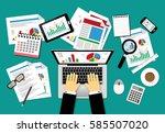 vector illustration business... | Shutterstock .eps vector #585507020