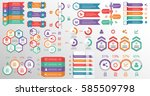 mega collection info graphic... | Shutterstock .eps vector #585509798