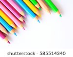 colored pencils   a colored... | Shutterstock . vector #585514340