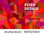 polygonal bright background.... | Shutterstock .eps vector #585525464