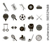 sport icon signs and symbols... | Shutterstock .eps vector #585529688