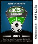 football  soccer vector poster... | Shutterstock .eps vector #585543938