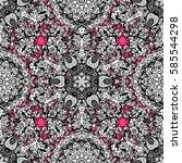 vector oriental ornament.... | Shutterstock .eps vector #585544298