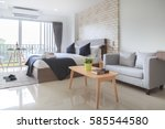 hotel bedroom interior design | Shutterstock . vector #585544580