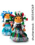 handmade mexican rag dolls... | Shutterstock . vector #585549269