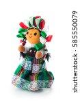 handmade mexican rag doll... | Shutterstock . vector #585550079