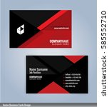 red and black modern business... | Shutterstock .eps vector #585552710