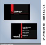 red and black modern business... | Shutterstock .eps vector #585552716