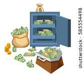 dollar paper business finance... | Shutterstock .eps vector #585554498