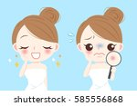 cartoon beauty woman with... | Shutterstock .eps vector #585556868
