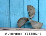 Old Metal Propellers Of Ships...