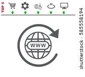 website icon vector flat design ... | Shutterstock .eps vector #585558194