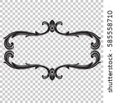 ornament in baroque style on... | Shutterstock .eps vector #585558710
