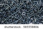 screws and bolts made of steel  ... | Shutterstock . vector #585558806